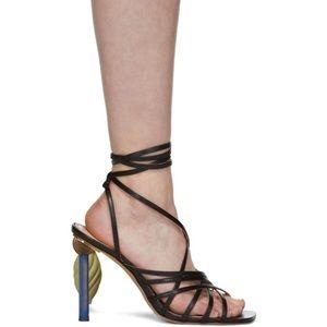 Jacquemus Pisa sandals black